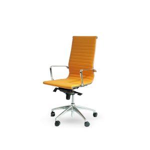 Silla de Oficina Alpha naranja - Diseño y Distinción - Limobel Inwo
