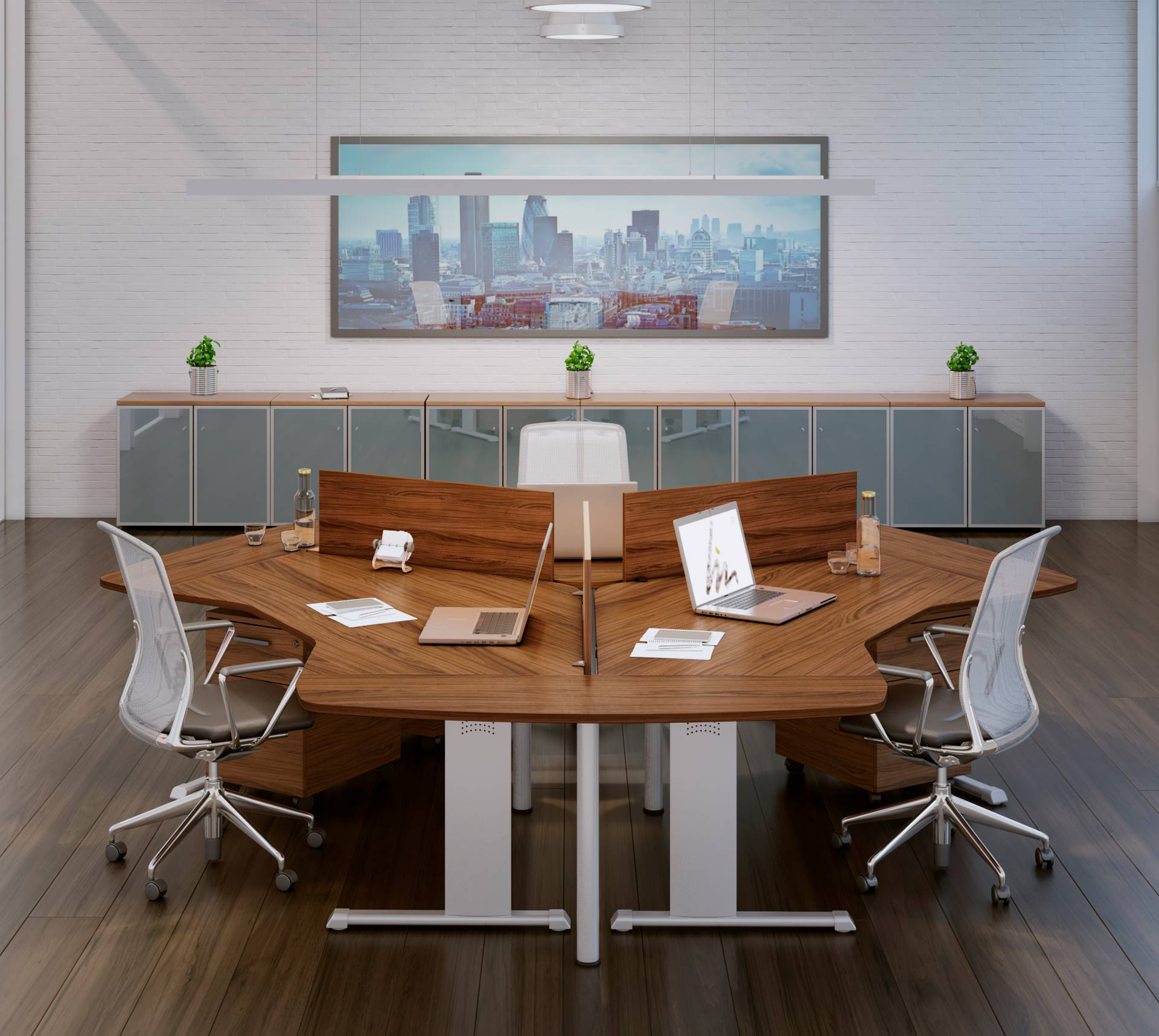 Mesa de Oficina Hydra Multipuestos - Clásica y atemporal - Limobel Inwo