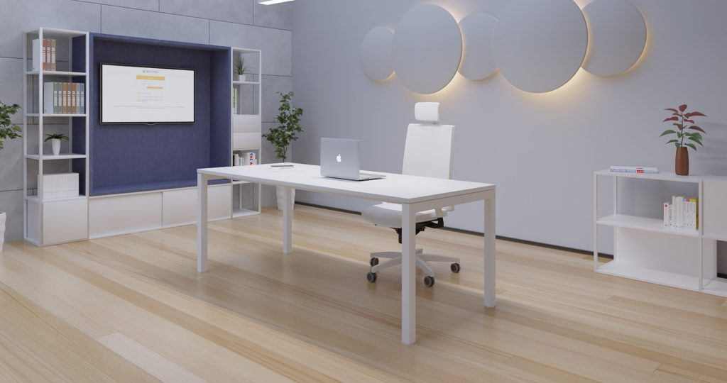 Mesa de Oficina Nix blanca - Operativa y Sorprendente - Limobel Inwo
