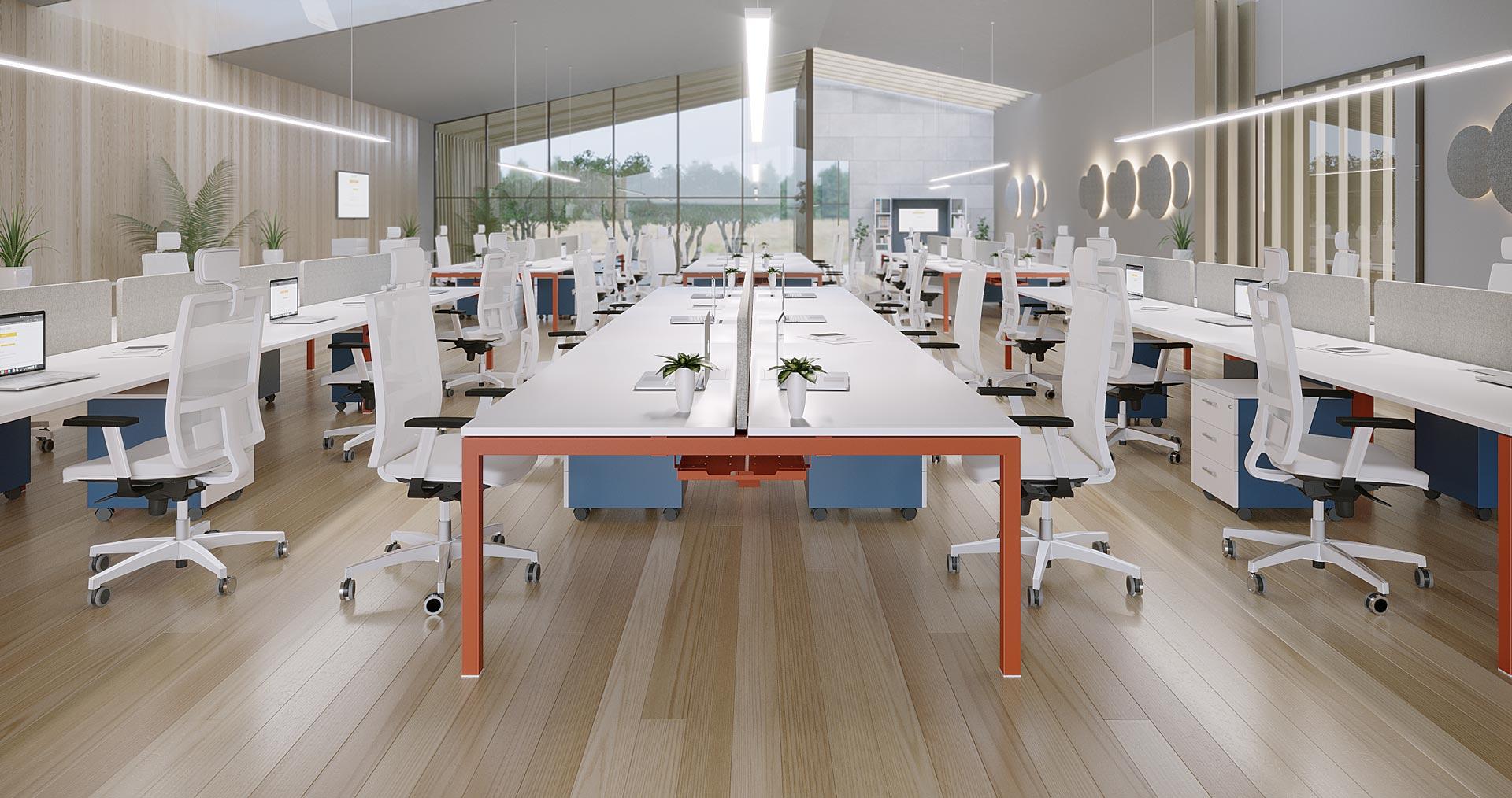 Mesa de Oficina Nix - multipuestos - Limobel Inwo