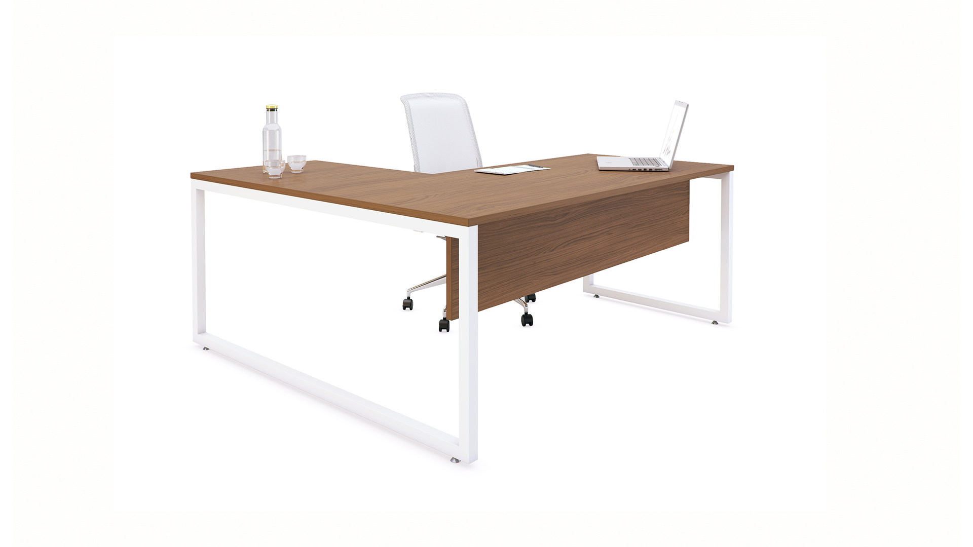 Mesa de Oficina M4 con separador - Atractiva y funcional - Limobel Inwo