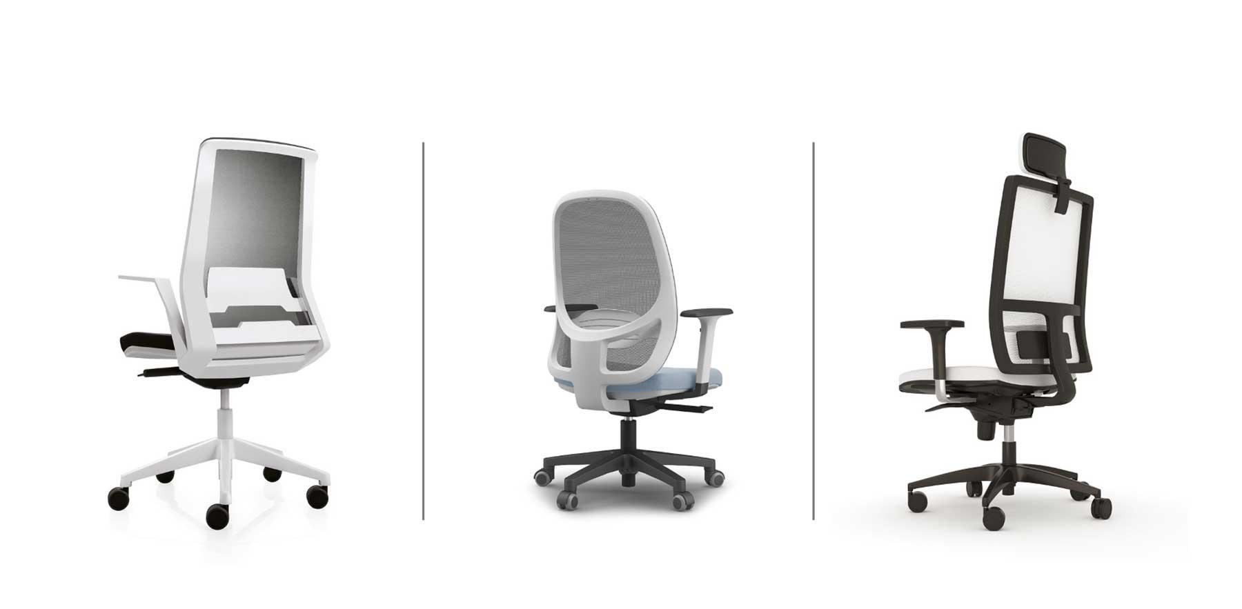 Sillas de escritorio ergonómicas con respaldo reforzado