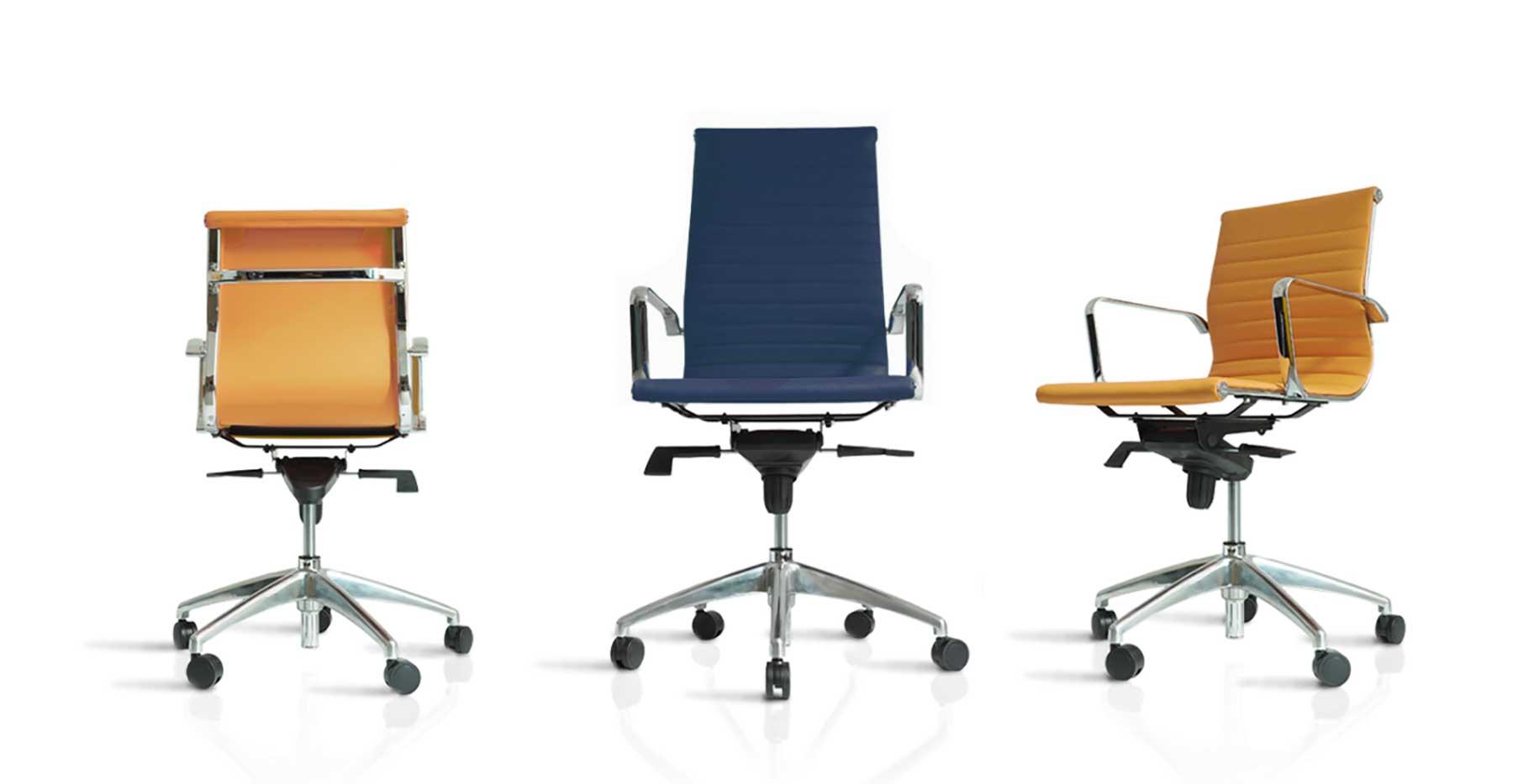 Silas de escritorio con ruedas de diferentes alturas