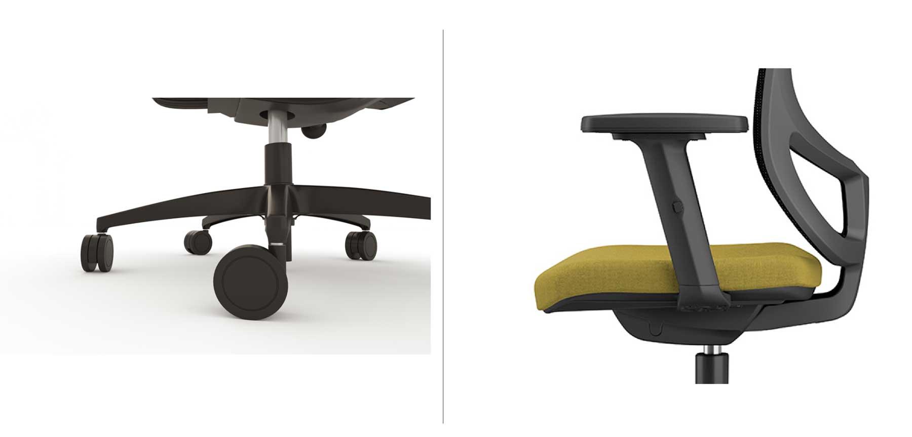 Sillas de escritorio con ruedas y reposabrazos