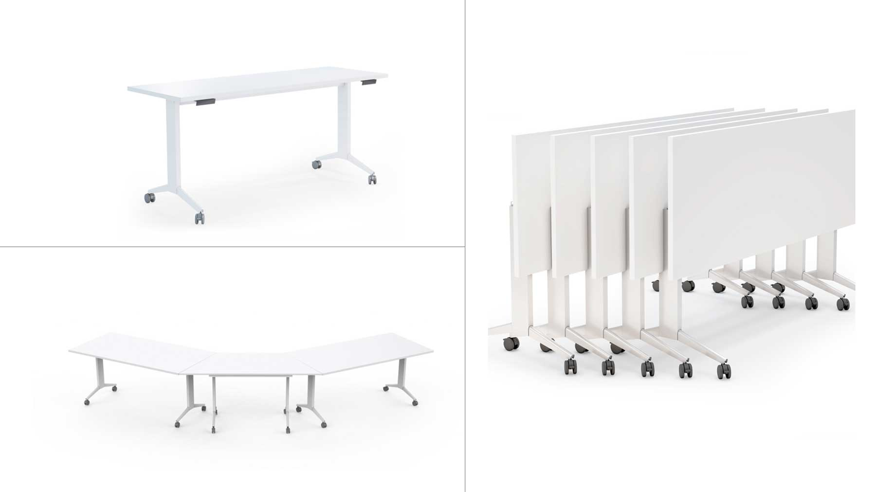 Mesas de oficina plegables limobel Inwo