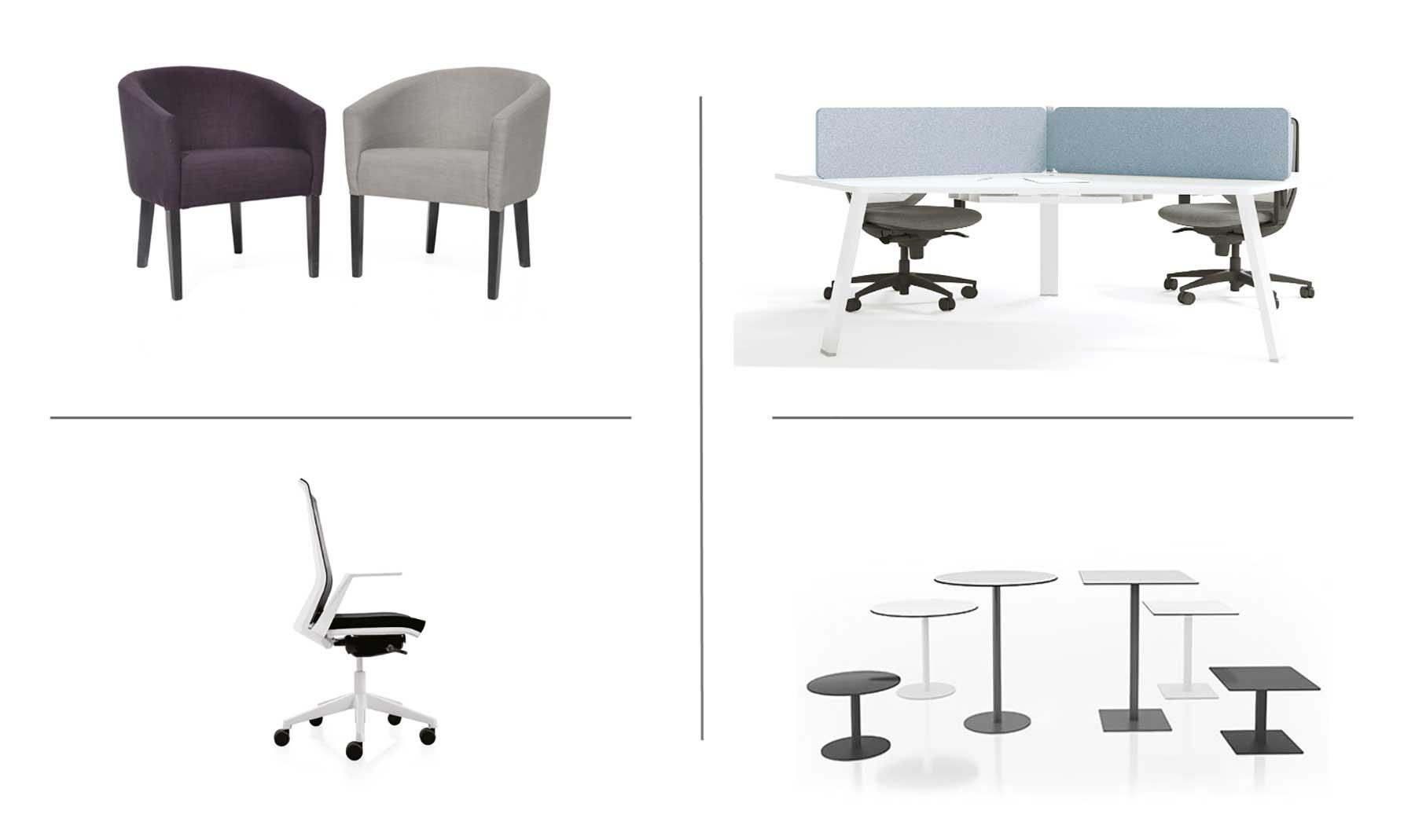 Muebles de Limobel Inwo para oficinas minimalistas