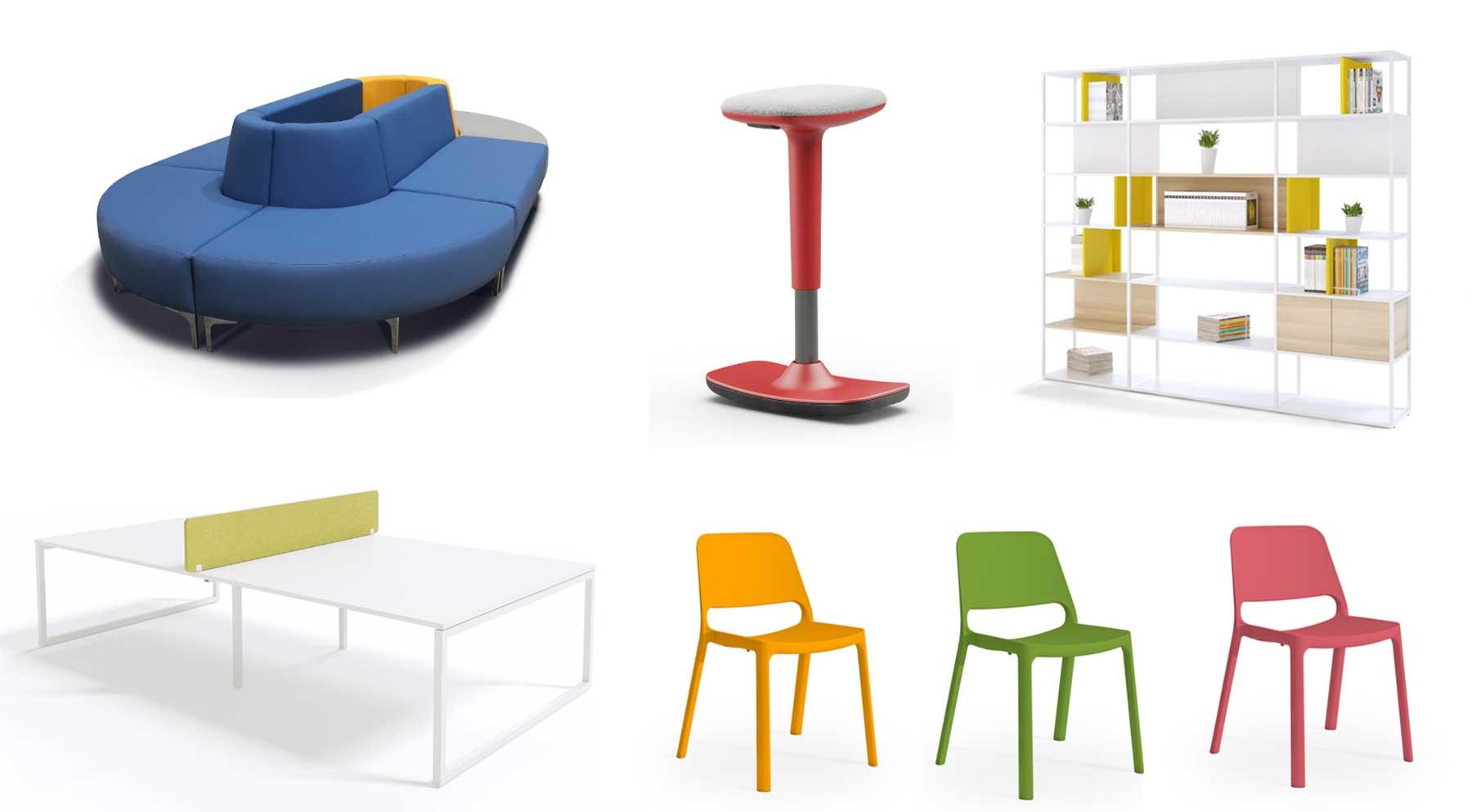 Muebles de oficina de colores vivos de Limobel Inwo