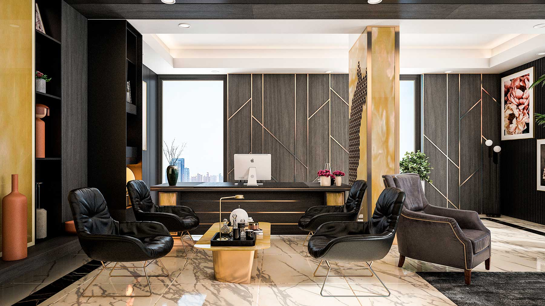 Oficinas de lujo de estilo ejecutivo